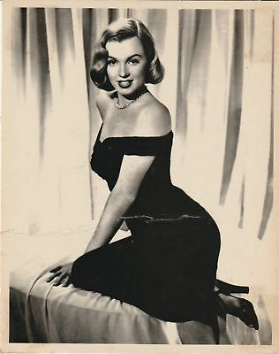 Vintage MARILYN MONROE Publicity PHOTO Black Dress 10in x 8in Iconic Image