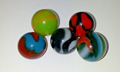 Vintage Peltier Marbles Very Nice Spiderman, Girl Scout, Tiger, Zebra, Multi