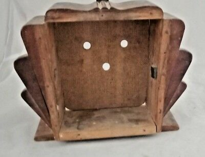Old Vintage Wooden Small Show Alarm Clock Case Box with sliding Back Cover