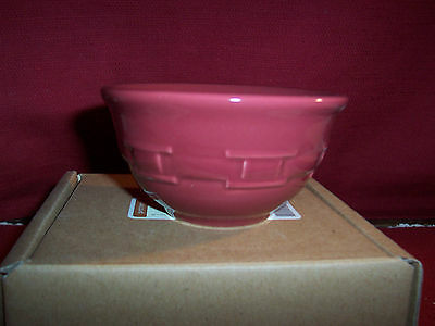 Longaberger 2 WOVEN TRADITIONS DESSERT BOWLS ~ PAPRIKA!   NIB!    BUY IT NOW!
