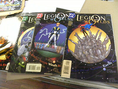 DC 2001 4 of 6 issues LEGION WORLDS 1 2 3 5 Abnett Lanning of Super-Heroes