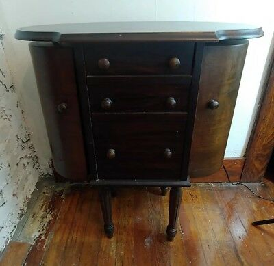 Vintage MARTHA WASHINGTON Vintage Wooden Sewing Cabinet Table