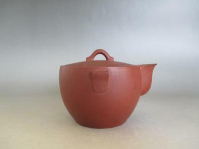Chinese Pottery old teapot w/sign of Yixing/ Vermillion Clay/ 7867