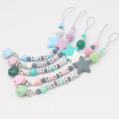 Personalised Gift Silicone DIY Pacifier Chain Baby Teething Modern Hot