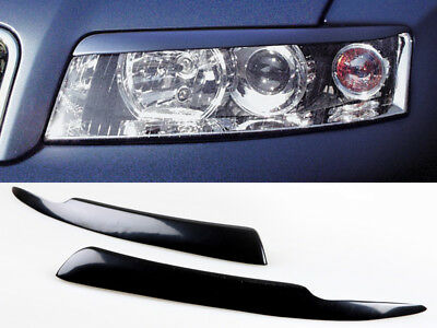 * Custom Painted Eyebrows Headlight Cover Eyelids For Honda Civic 01-05