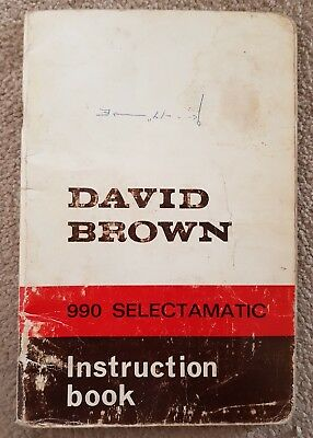 David Brown 990 Selectamatic Tractor Operators Manual