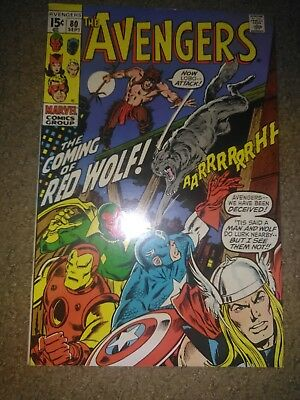 The Avengers #80 (Sep 1970, Marvel) 1st Red Wolf