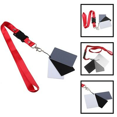 18% Gray Color Balance Cards Digital Grey Card With Neck Strap For DSLR Hot
