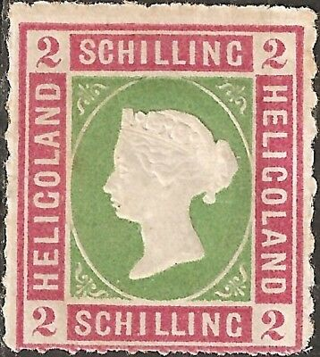 UN-USED 1867 HELIGOLAND 2 Schilling STAMP British Empire COLONY Queen Victoria