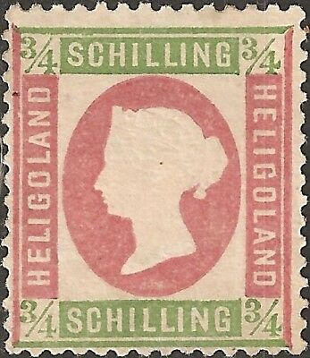 MH 1873 HELIGOLAND 3/4 Schilling STAMP British Empire COLONY White Square