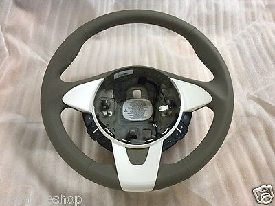 New! GENUINE FORD KA 2008 ON LEATHER + PEARL WHITE STEERING WHEEL 1573438 £120