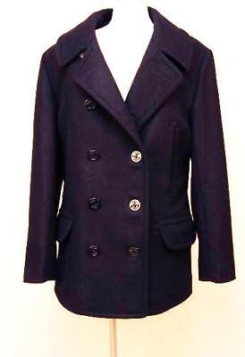 J Crew $288 Mens Wool Dock Peacoat with Thinsulate M Navy Blue Jacket 05536 NWT