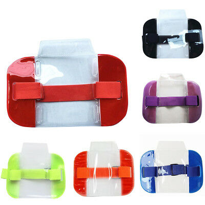 ITS- High Visibility Security Armband ID Badge Elastic Arm Wrap Card Bag Case St