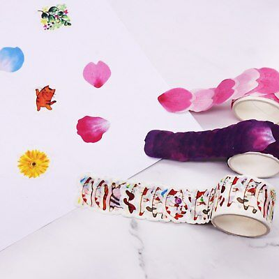 80pcs/roll Masking Tape DIY Scrapbook Stickers Paper Flower Petals Tape Washi