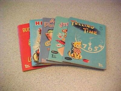 Vintage Whitman Tiny Tales Books-Lot Of 5 Different Books- Lot #6