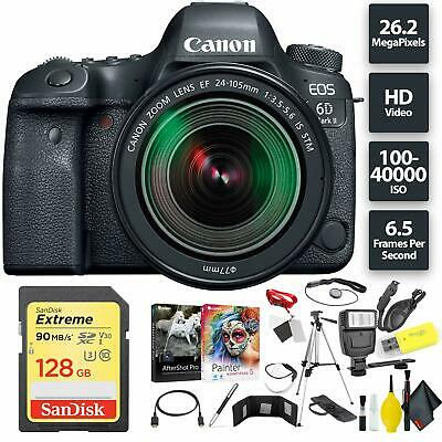 Canon EOS 6D Mark II DSLR Camera + 24-105mm f/3.5-5.6 Lens Bundle0197