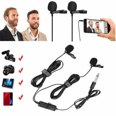 BOYA BY-M1DM Lavalier Dual-Head Microphone For DSLR Camcorder Smartphone SP