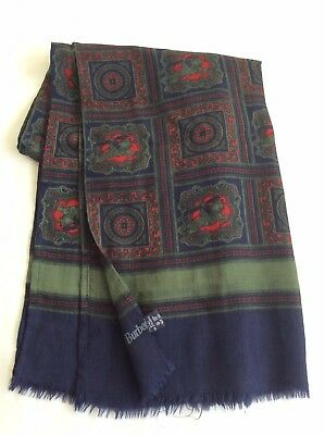 Men's WOOL SCARF BURBERRY Made In Italy 100% Wool Designer Accessory Vintage