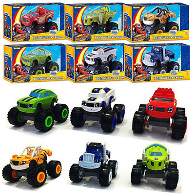 6 Pcs Blaze and the Monster Machines Vehicles Diecast Toys Racer Cars Trucks NEW