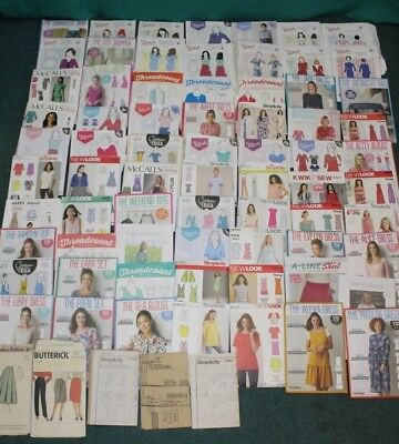 Job Lot of 50+ Assorted Vintage Women's Sewing Patterns (Hospiscare)