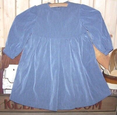 Amish Holmes County, Ohio Baby Girl's Bluish Gray Dress Handmade 18 Months?