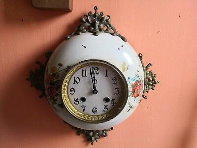 Vintage French Style wall Clock hermle bell strike movement