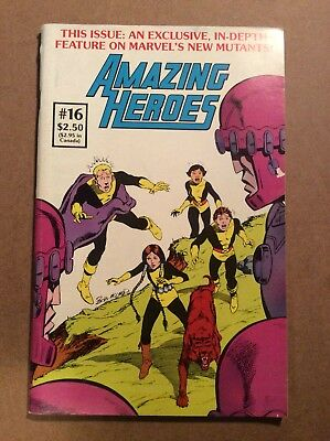 Amazing Heroes #16 New Mutants Appearance