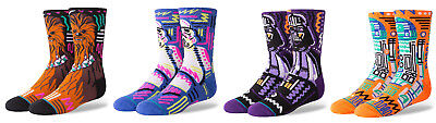 Stance Star Wars Collection Kids Socks Size (2-5.5) Youth Boys Large Set 4 Pairs