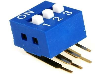 DSK-03 Switch DIP-SWITCH Poles number3 ON-OFF 0.05A/12VDC -20÷70°C