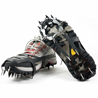 18 Teeth Claws Micro Spikes Footwear Ice Traction Cleats Grips Crampons Non-slip