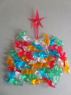 Ceramic Christmas Tree *lights + Star* Plastic Ceramic Tree Lights,twists, Bulbs