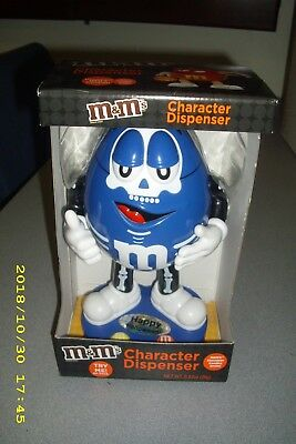 NEW M & M's Brand Halloween Blue Skeleton Candy Dispenser Limited Edition Series