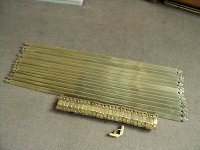 Beautiful Set Of 14 Vintage Brass  Stair Rods And 28  Brackets