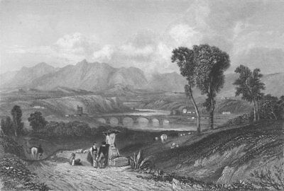 Roma The TIBER  by C.Stanfield , engraved by E. Finden. 1833