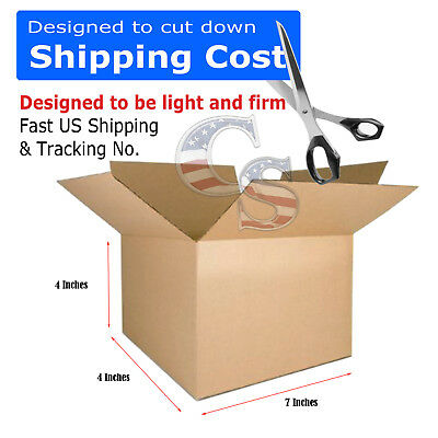 100 7x4x4 Cardboard Shipping Boxes Cartons Packing Moving Mailing Box