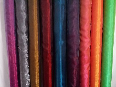 Premium Two Tone Sheer Crystal Organza Fabric Voile Curtain Material 150cm 59""