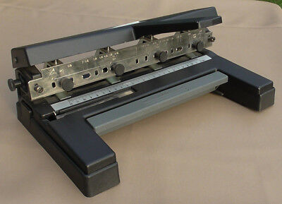 Acco 450 Heavy Duty 4 Hole Paper Punch Adjustable From 1-7 Hole Excellent Cond.