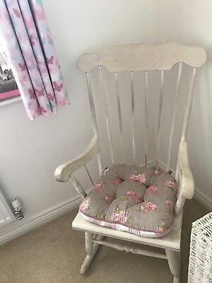 Rocking Chair. Cream colour. Distressed vintage look. Perfect for nursery
