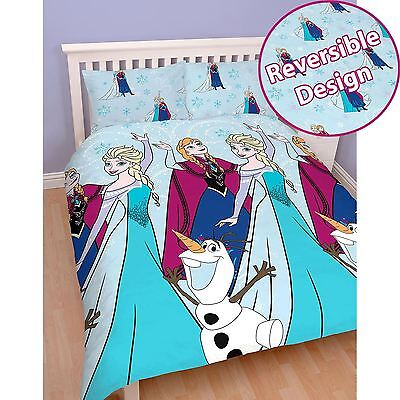 Disney Frozen Lights Double Duvet Cover Set 2 In 1 Reversible Official Bedding