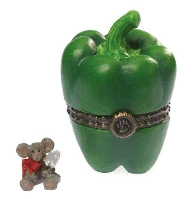 """BOYDS BEARS TREASURE BOX """"BELLE'S PEPPER w/ McNIBBLE"""" 4041597 *  FREE SHIPPING"""