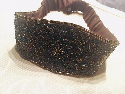 Vintage retro womens beaded Belt Made By Carlo ~Stunning~