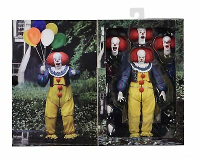 """IT - 7"""" Scale Action Figure - Ultimate Pennywise Clown (1990) - NECA TIM CURRY"""