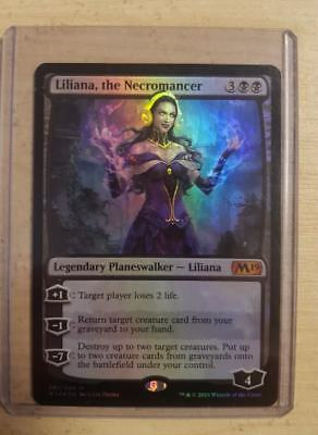 MTG: M19 'Liliana, the Necromancer' FOIL - Mythic Rare - #291 - NM