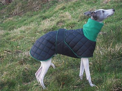 """Waterproof Whippet Coats With Fleece snood Collar - Various Colours 20"""" - 25"""""""