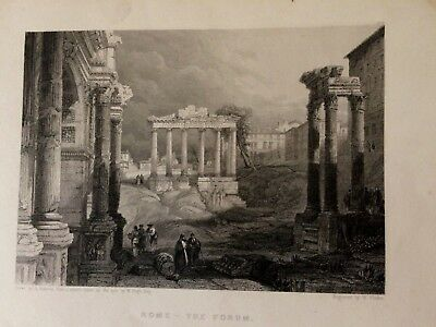 The Tomb of Cecilia Metella Drawn J.M.W. Turner , engraved by E. Finden. 1833