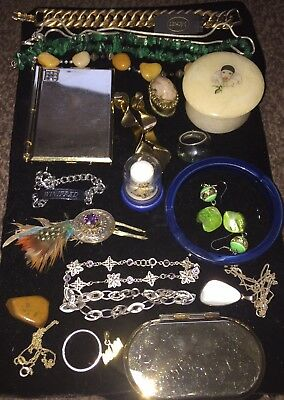A Fine Vintage Job Lot Of Costume Jewellery Inc Sterling Silver, 925 etc