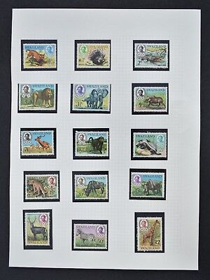Swaziland, Wildlife set, fifteen (15) stamps to the R2 value, unmounted mint.