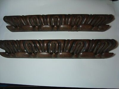 A Pair Of Antique Carved Wood 'panels'.