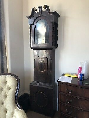 Antique longcase grandfather clock Dickinson skipton