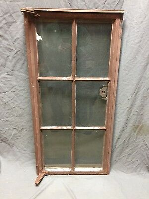 Vtg Industrial Steel 19X40 6 Lite Casement WIndow Old Factory Warehouse 356-18C